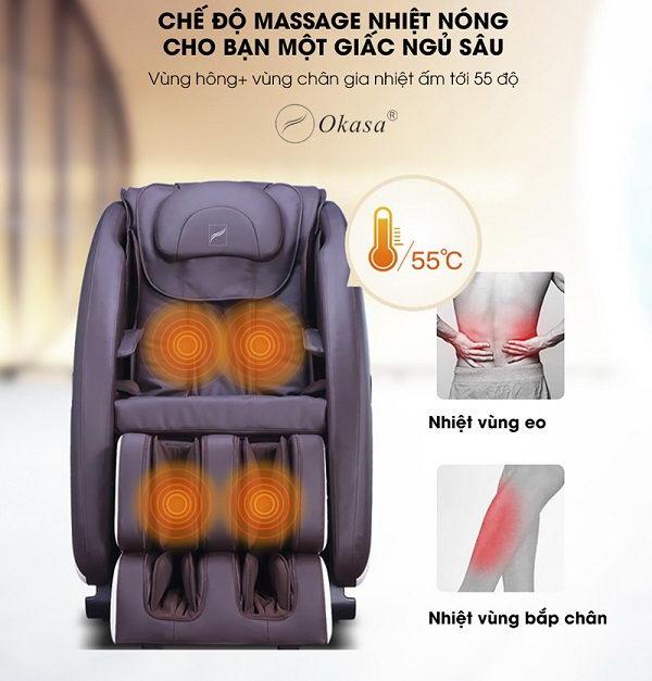 Ghế massage nào có chế độ sưởi ấm