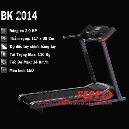 Máy chạy bộ điện BK-2014 (đơn năng)