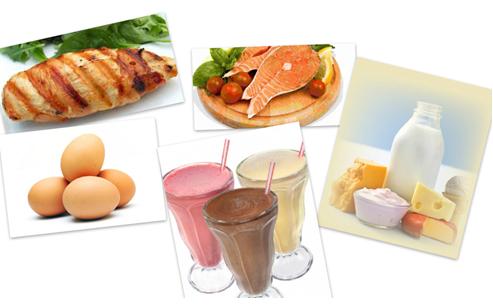 Chế độ ăn uống khi tập cơ bụng protein