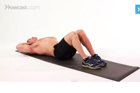cơ bụng 6 múi với bài tập crunches