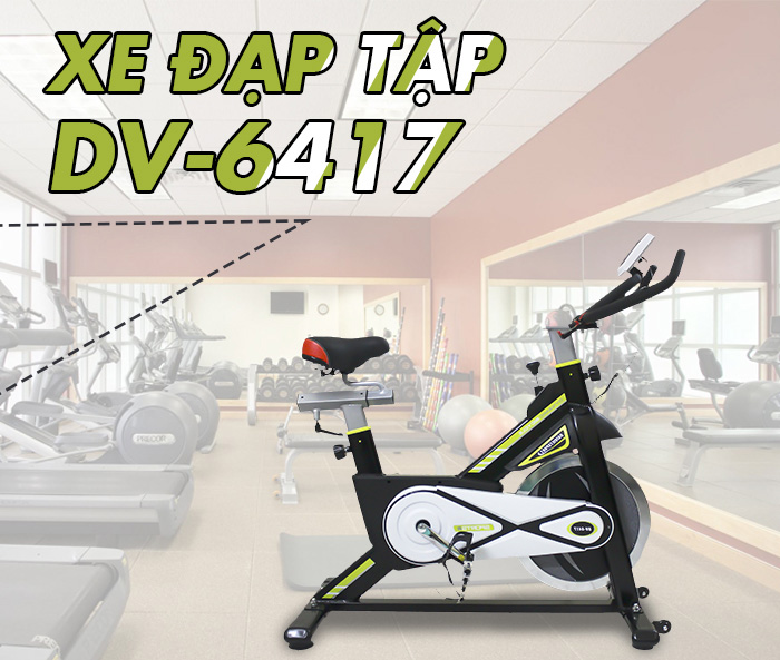 Xe đạp tập thể dục DV-6417 chính hãng Daiviet Sport