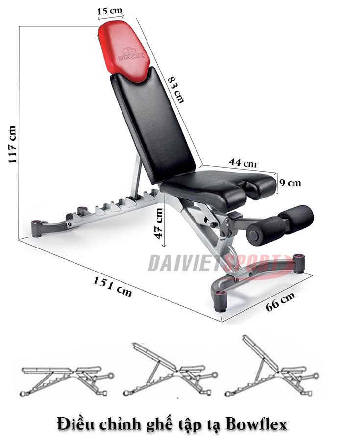 Ghế đỡ tập tạ điều chỉnh BOWFLEX