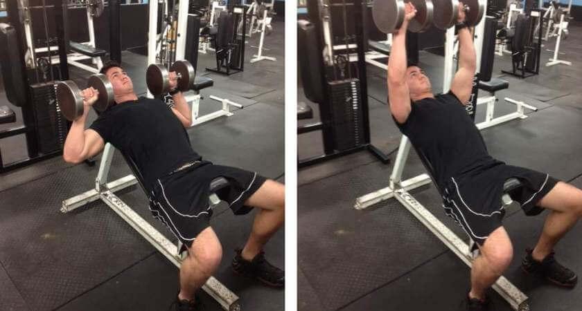 Hướng dẫn tập ngực trên với ghế dốc đẩy tạ đôi-1