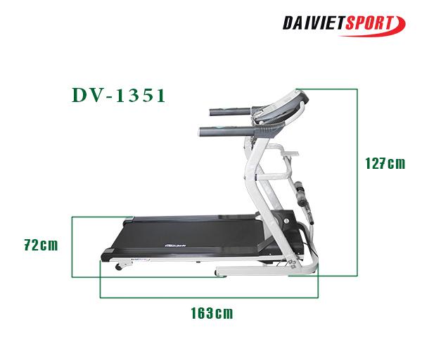 Kích thước của máy chạy bộ DV-1351