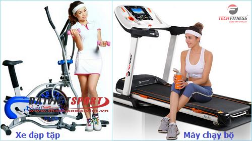 So sánh máy tập chạy bộ và xe đạp tập thể dục trong nhà