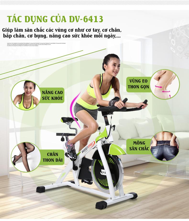 Tác dụng của xe đạp tập gym DV-6413