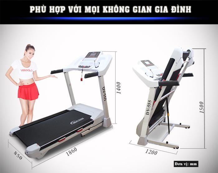 THông số Máy chạy bộ điện Đại Việt DV-555