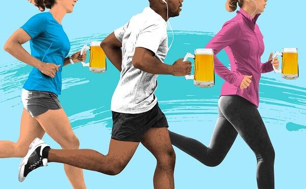 Uống bia sau khi tập máy chạy bộ có sao không ?
